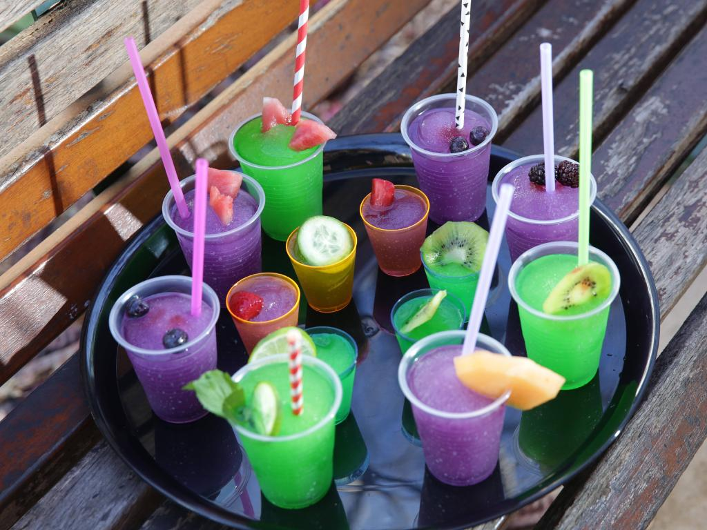 Finding yummy, non alcoholic drinks can reduce the anxiety of not drinking in a social situation.