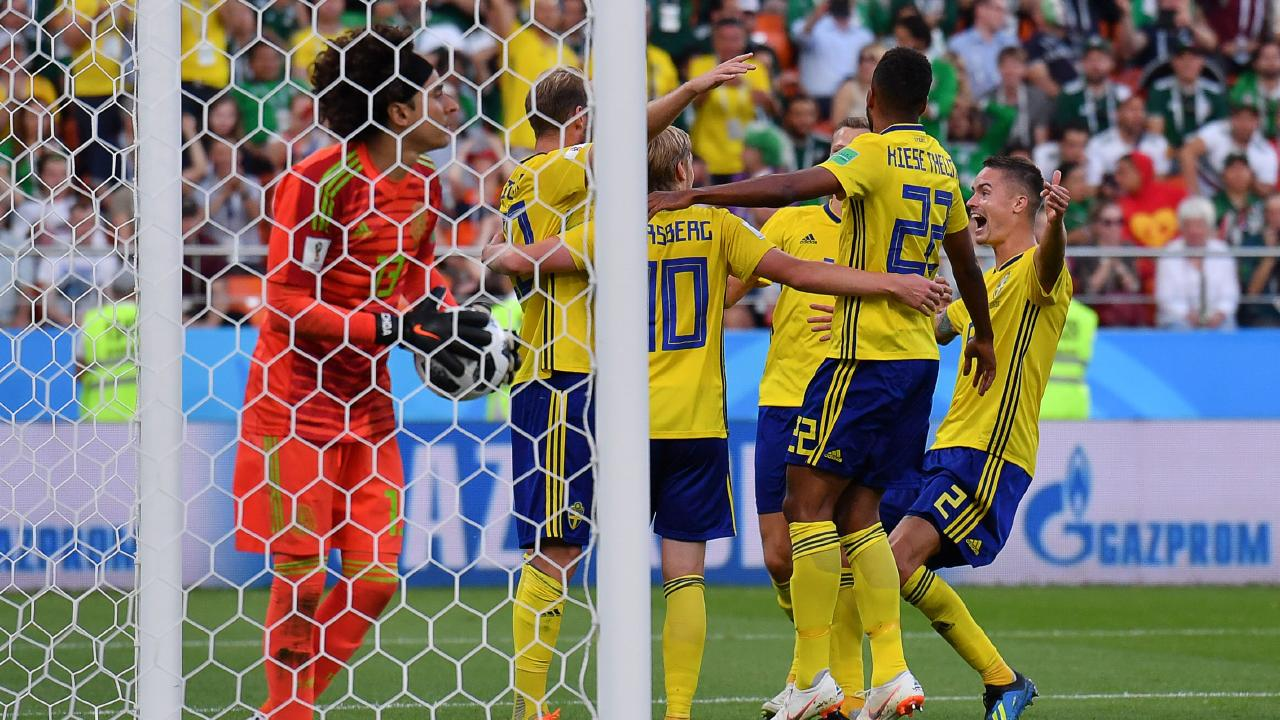 The Swedes stormed home in the second half with three goals. Picture: AFP.