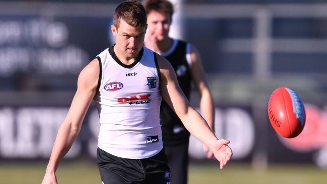 Jack Trengove of the Powertrains at Alberton Oval. Picture: AAP Image/David Mariuz