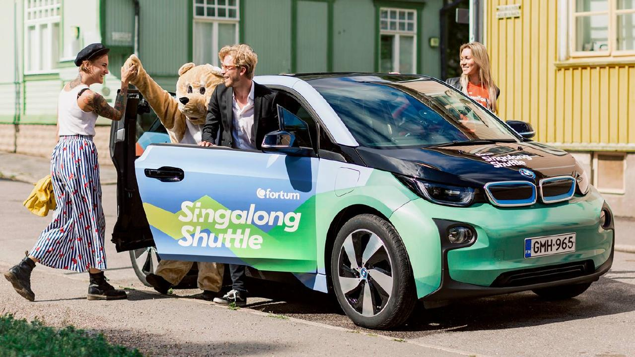 Taxi passengers in Finland can ride for free by singing for the driver as part of a special promotion during the Ruisrock music festival. Picture: Supplied.