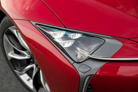 The Lexus LC500 is powered by a 5.0-litre V8 petrol engine pumping out 351kW/540Nm.