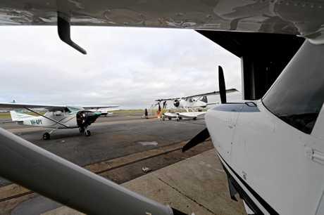 Chrisair aircraft maintenance at Mackay airport. Claire and Dan Christensen