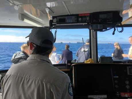 TOBRUK: Photos from out at sea.