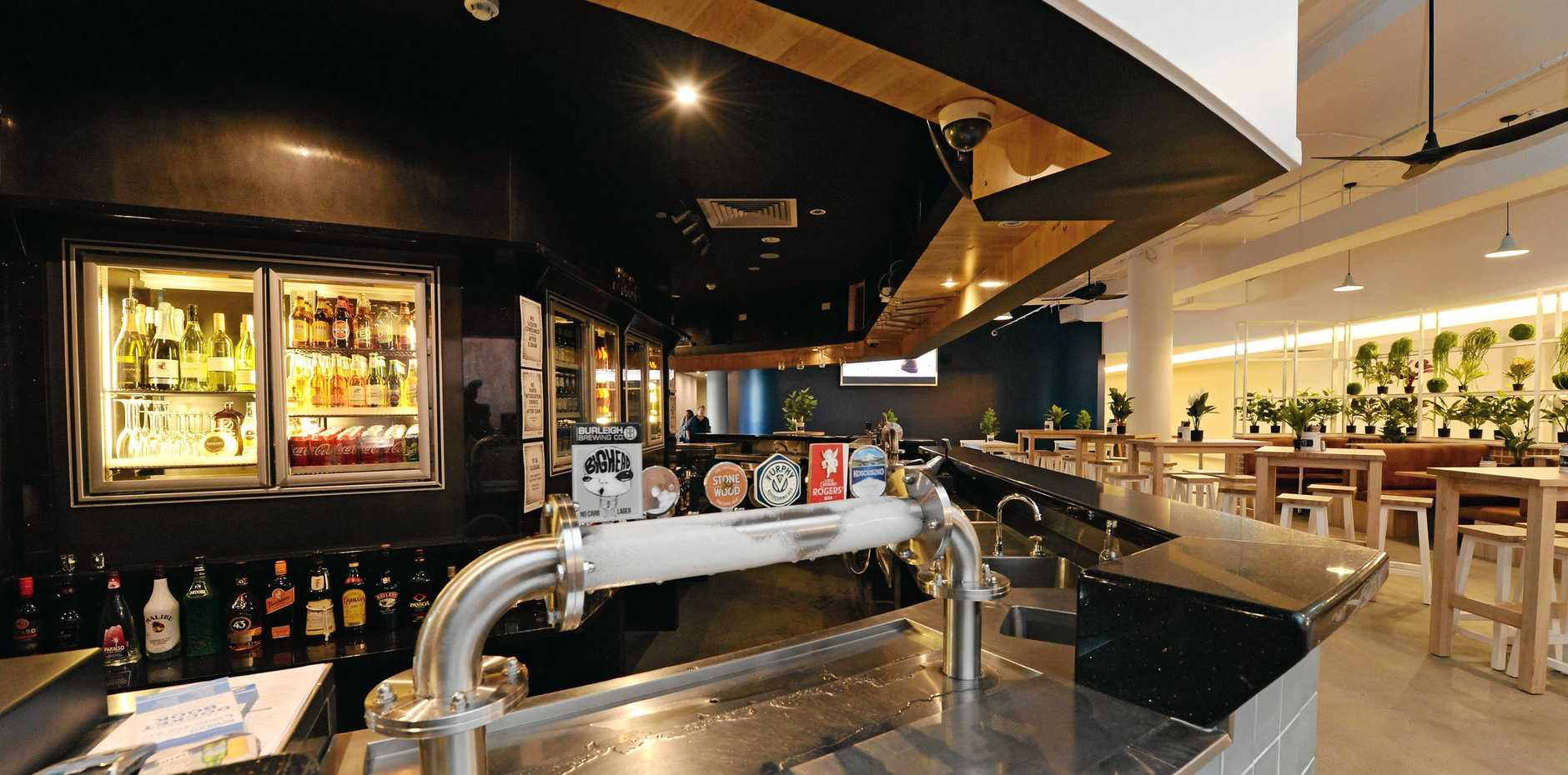 Newly renovated AM Bar at Rydges Hotel, Mackay