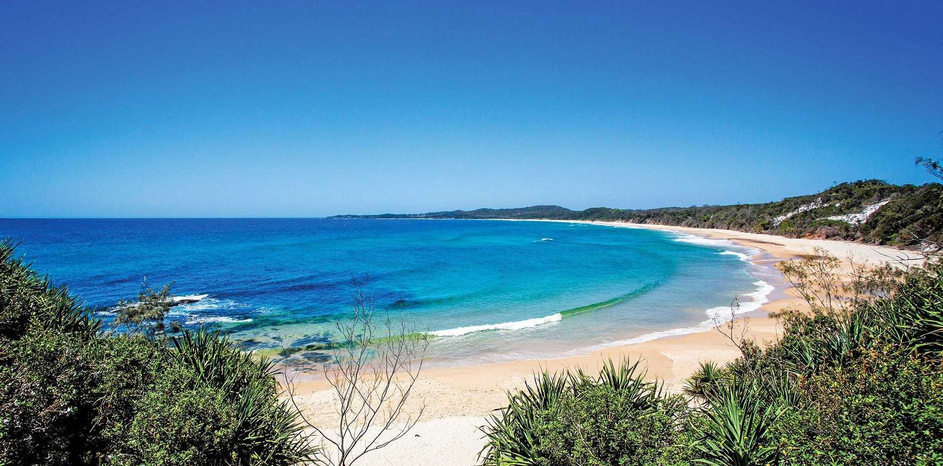 RIGHT: The appealing Clarence Valley coastline.
