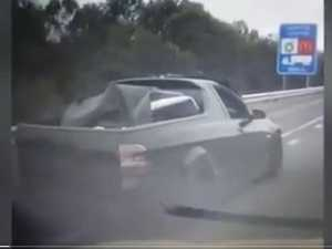 Speeding ute flees with body in barrel