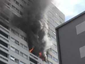 Huge fire breaks out in London tower block
