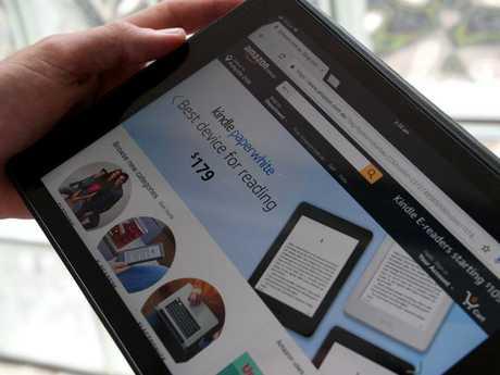 A tablet shows Amazon's Australian website. Picture: AAP Image/Dan Himbrechts