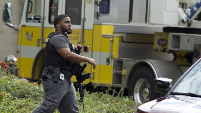 Five people were killed in the shooting. Picture: AP Photo/Jose Luis Magana