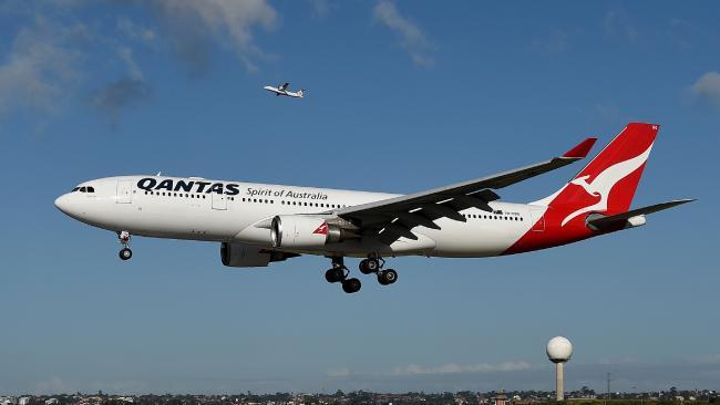 A Qantas Plane.