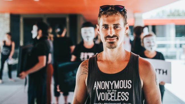 Vegetarian and animal rights campaigner Matt Stellino.