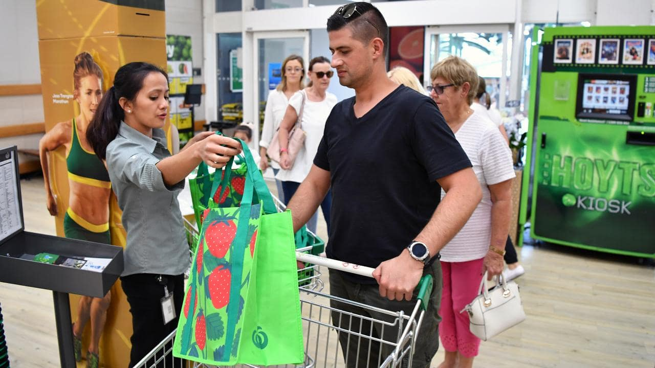 Many Woolworths customers have been outraged that they have to pay for their own bags.
