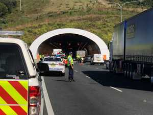 PHOTOS: Tunnel closed after two car crash