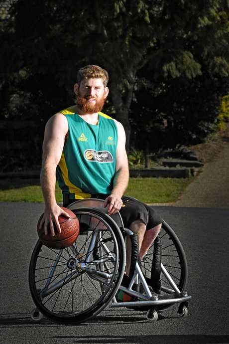 Gympie's Steven Elliott is hoping to make a big play in the Australian Rollers basketball team who head to Germany next month.