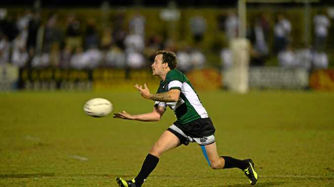 BALL PLAYER: Maroochydore's Tyler Oxenham, pictured in a previous match at Wises Road.