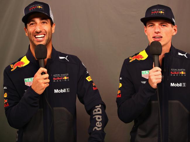 Teammates again. Daniel Ricciardo and Max Verstappen. Picture: Mark Thompson/Getty Images