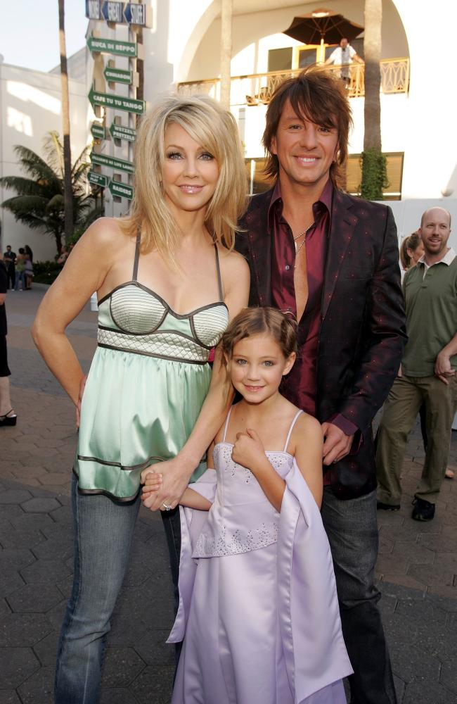 Heather Locklear, husband musician Richie Sambora and daughter Ava Elizabeth in 2005. Picture: Kevin Winter/Getty Images