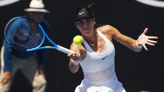 Ajla Tomljanovic won her first-round match at Wimbledon.