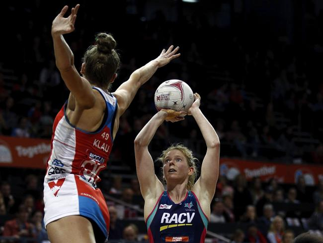 Tegan Philip shoots over a defender. Picture: Getty