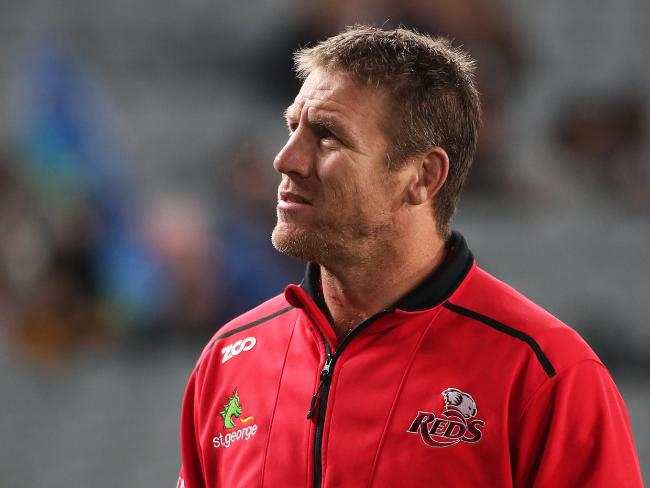 Queensland Reds coach Brad Thorn has some work to do during the off-season. Picture: Fiona Goodall/AAP