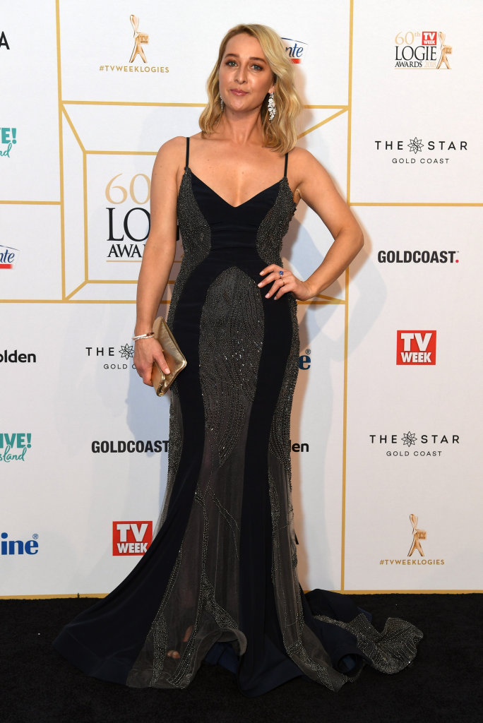Asher Keddie arrives at the 2018 Logie Awards at The Star Casino on the Gold Coast, Sunday, July 1, 2018.