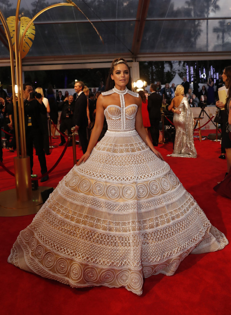 Olympia Valance arrives at the 2018 Logie Awards at The Star Casino on the Gold Coast, Sunday, July 1, 2018.