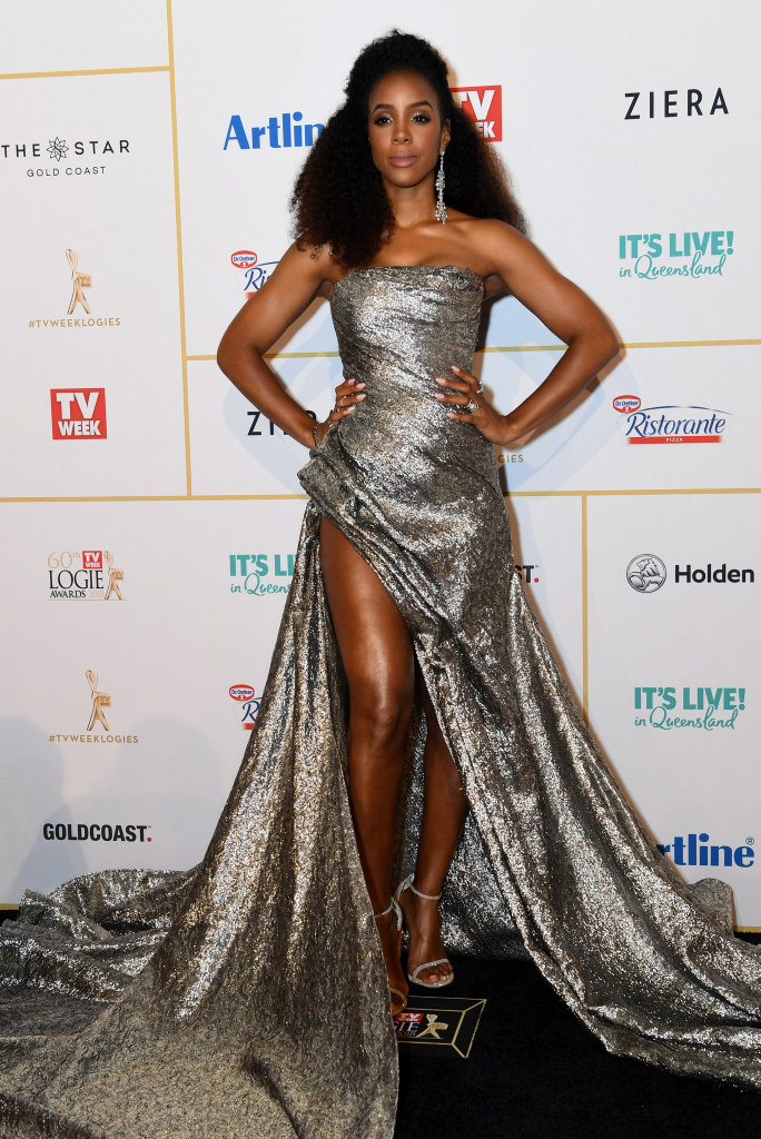 Kelly Rowland arrives at the 2018 Logie Awards at The Star Casino on the Gold Coast, Sunday, July 1, 2018.
