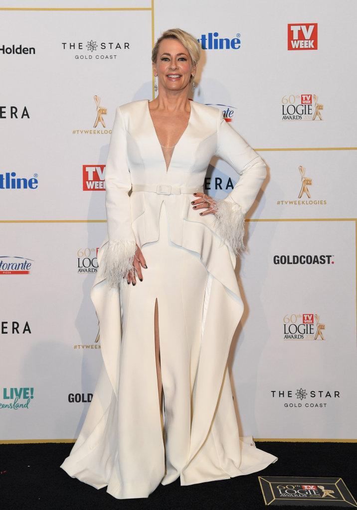 Amanda Keller arrives at the 2018 Logie Awards at The Star Casino on the Gold Coast, Sunday, July 1, 2018.