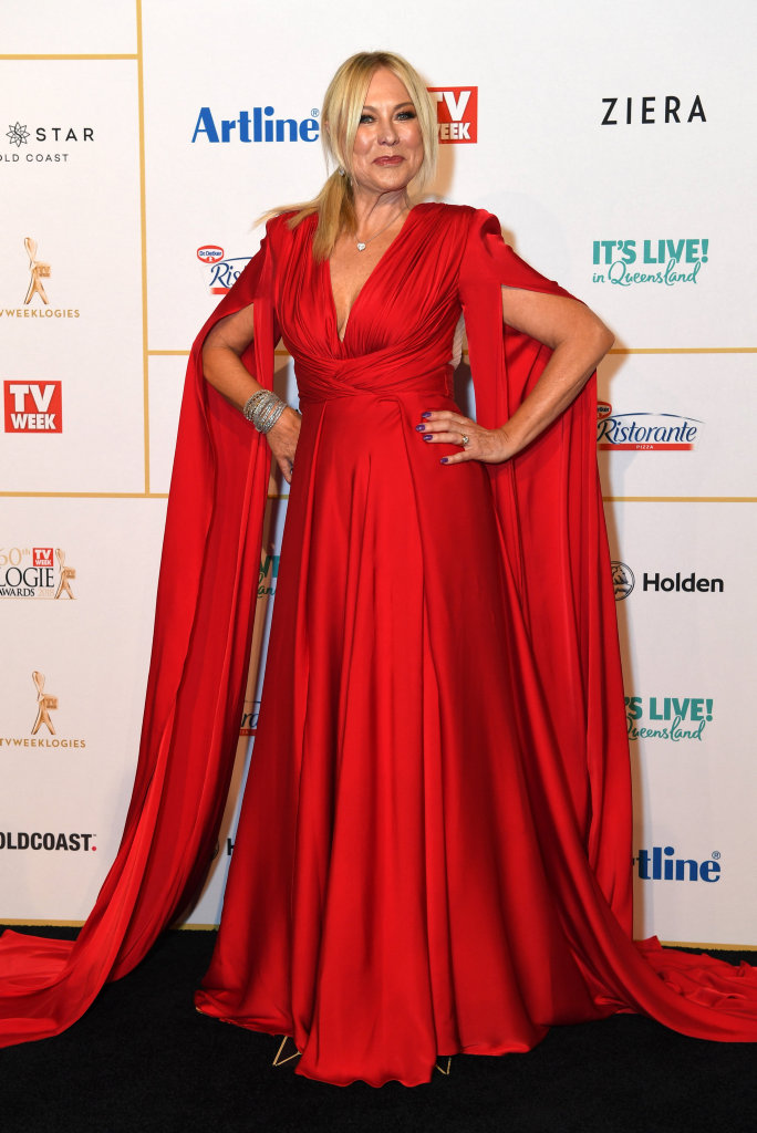 Kerri-Anne Kennerley arrives at the Logie Awards at The Star Casino on the Gold Coast, Sunday, July 1, 2018.