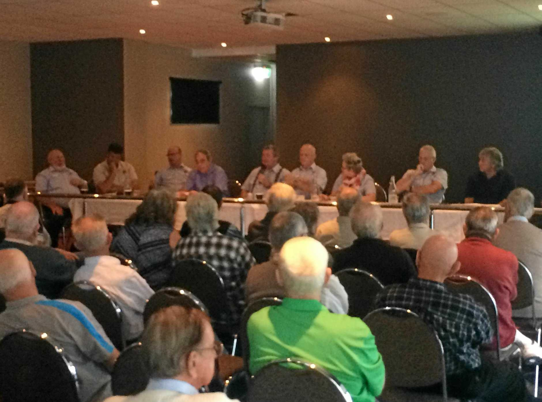 CONSULTATION: About 85 Gympie RSL sub branch members yesterday backed plans for an expanded RSL presence in the CBD.