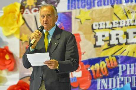 Glenn Churchill at the Filipino-Australian Community Integration Organisation (FACIO) at their 120th Anniversary of Independence celebration, held at Gladstone PCYC.