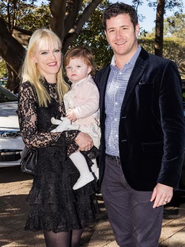 Guests at the event include Dominique Lomas, baby Victoria and Bryant Stokes. Picture: Kai Godeck