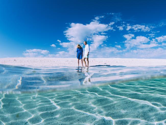 Spectacular coastline near Denham. Picture: Tourism Western Australia