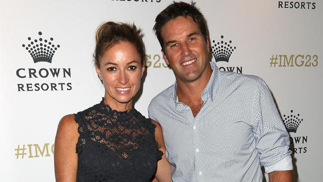Pat Rafter and his wife Lara Feltham pocketed $15.2m for the sale of their Sunshine Beach home. Photo: Graham Denholm/Getty Images.