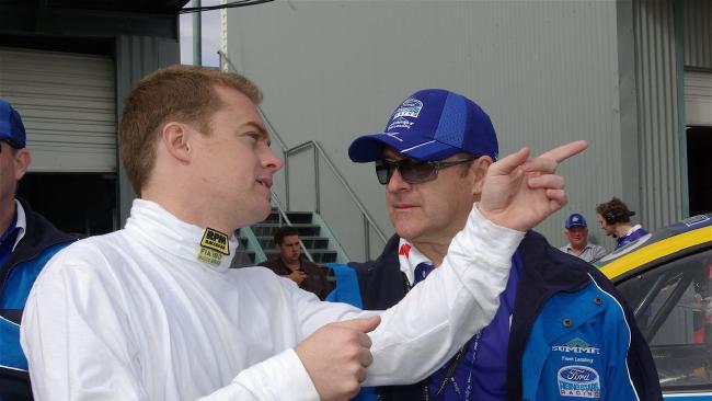 Grant Denyer talks tactics with Dad Craig.