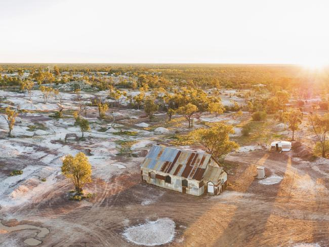 The church purpose-built for the Australian film, 'The Goddess of 1967, Lightning Ridge. Picture: Destination NSW