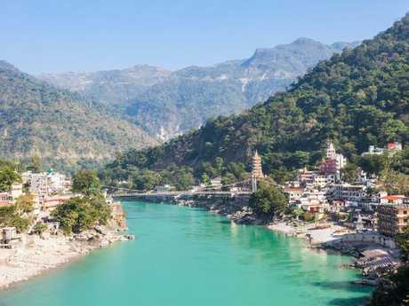 Rishikesh is known as the yoga capital of the world, and attracts many international tourists.