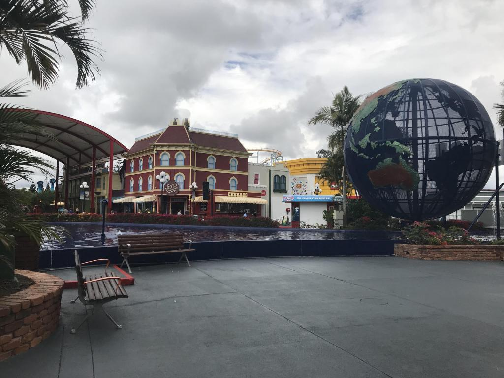 Dreamworld is virtually vacant for the start of school holidays.