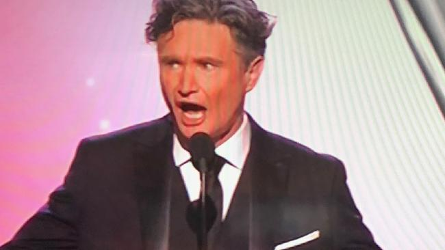 Dave Hughes Logies opener. Picture: Channel 9