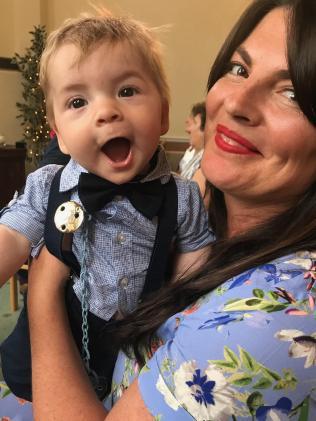 Samantha Payne with her rainbow baby, Johnny.