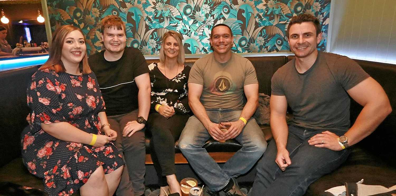 L-R Rhianna McDonald, Leroy Jenkins, Nyree Roadley, Marc Wright and Matt Bielenberg at The Heritage Hotel.