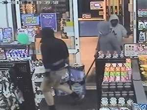 Two charged over Laidley servo robbery with iron bars