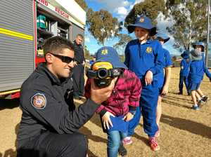 School camp and firies visit keep students busy