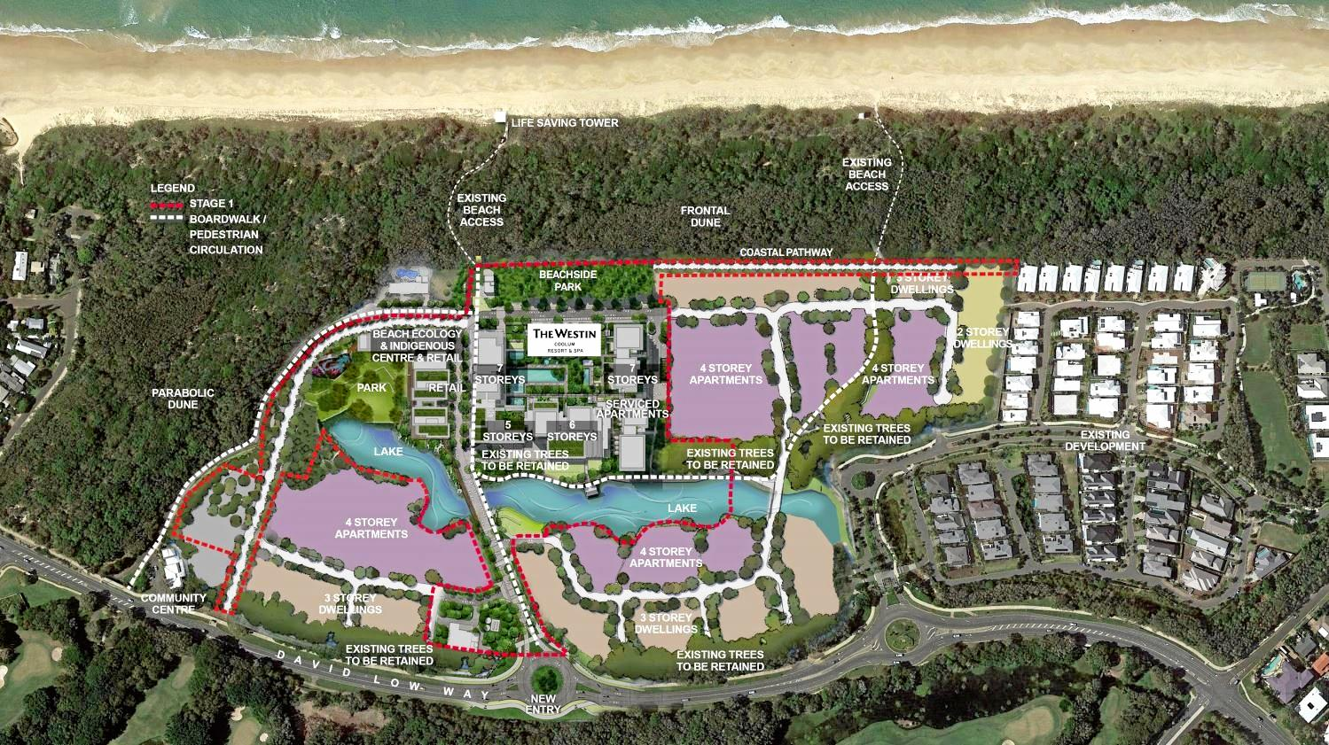 The Master Plan for the Sekisui House, Yaroomba Beach, development which attracted 9200 submissions opposing it.