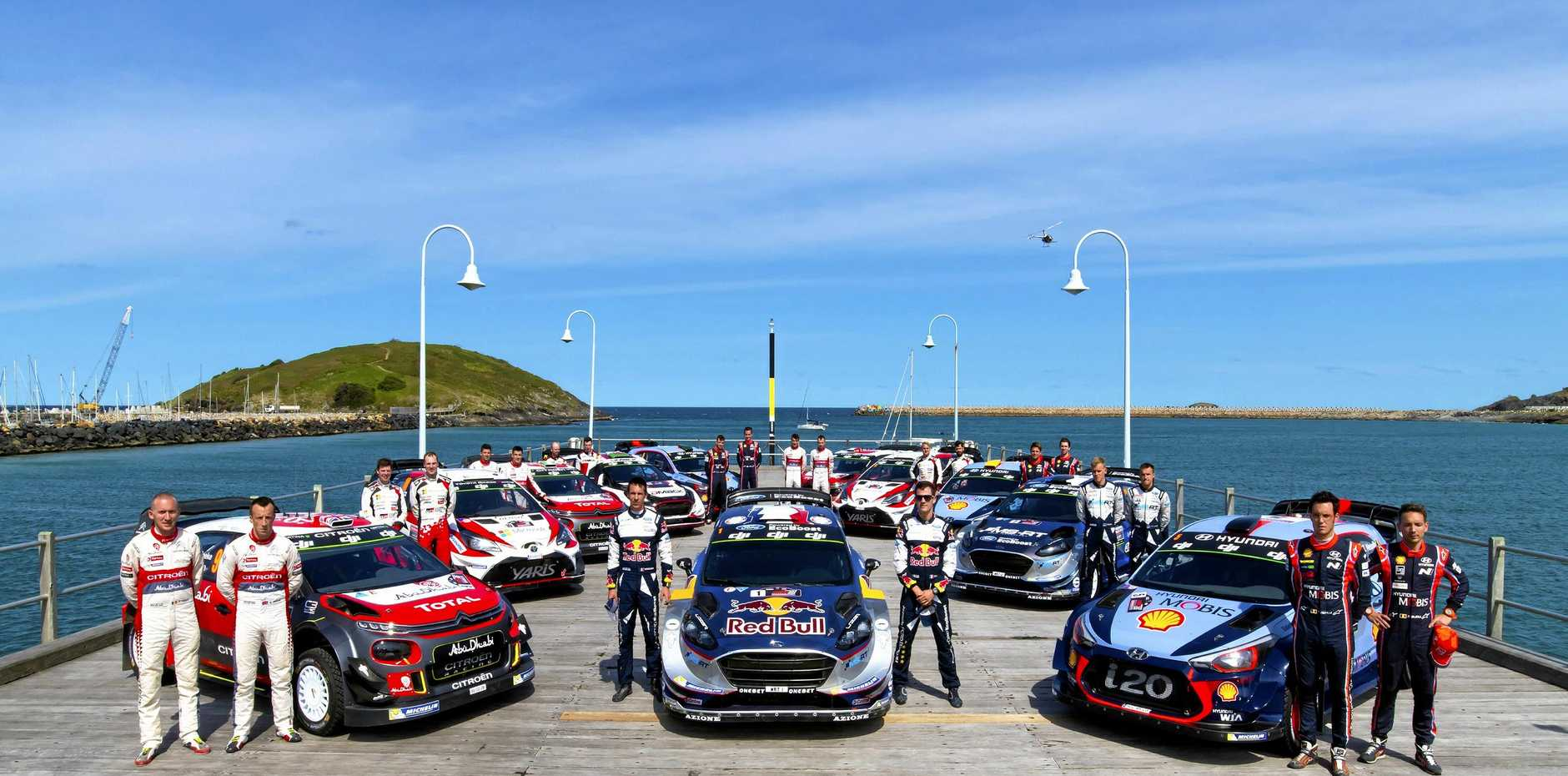 READY TO GO: Feel the thrill of the WRC at Kennards Hire Rally Australia from November 15 - 18 on the Coffs Coast.