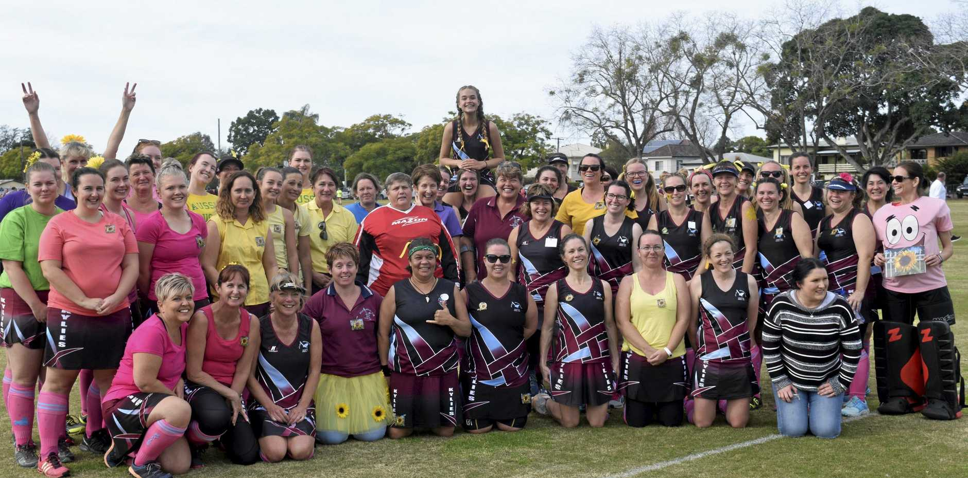 AMAZING RESPONSE: Grafton Hockey Association's leading ladies celebrate the inaugural Doin' It For Holly Day with Wendy Butcher at the hockey complex.