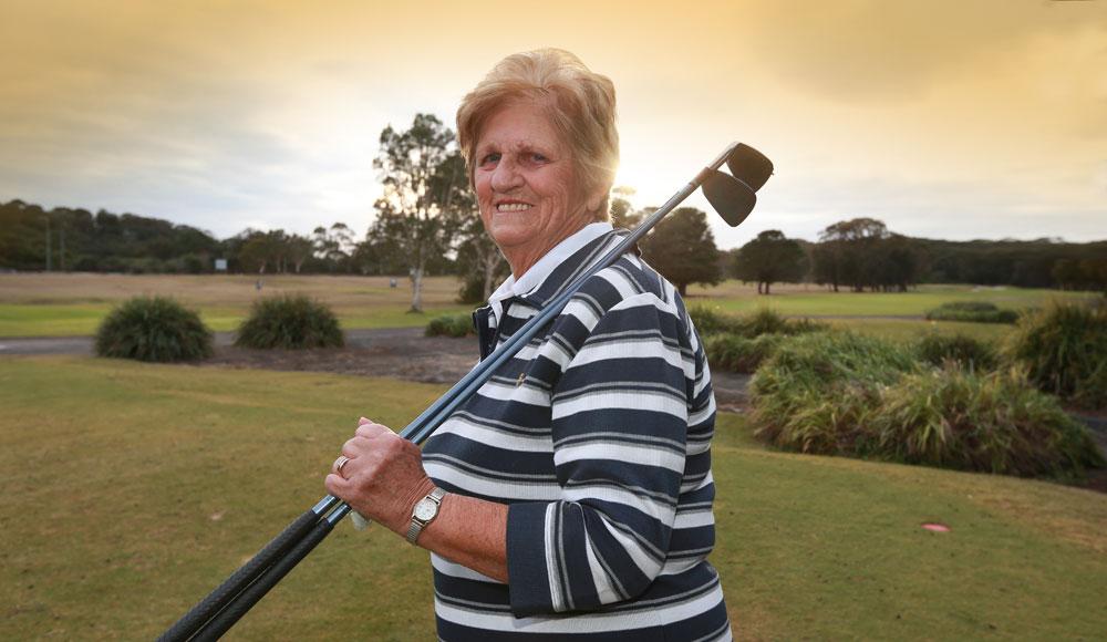 Pat King regularly hits a round at the Port Kembla Golf Club near Wollongong and says it's