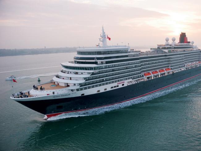 Cunard ship Queen Elizabeth.