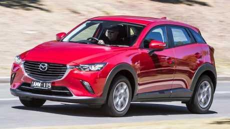 Photos of the Hyundai Kona, Mazda CX-3 and Mitsubi