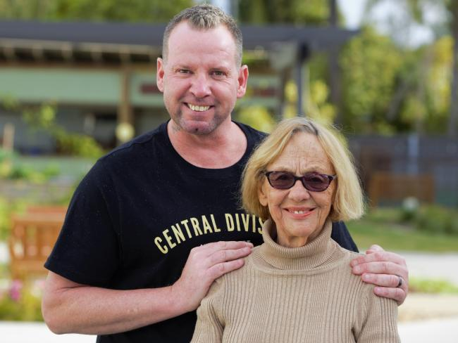 House companion Izak Kros and NewDirection Care resident Joan Pigdon. Picture: Supplied